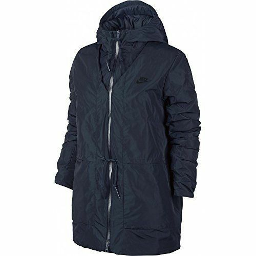 Down 805080 Coat Nike Size M 451 Hooded Womens Obsidian Fill Jacket Parka w6qF1z15