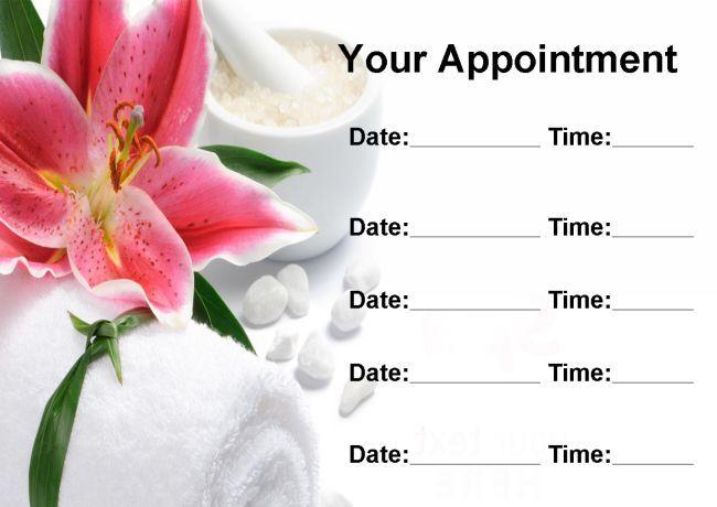 Tratamiento De Masaje Spa Salon De Belleza Personalizados nombramiento Tarjetas