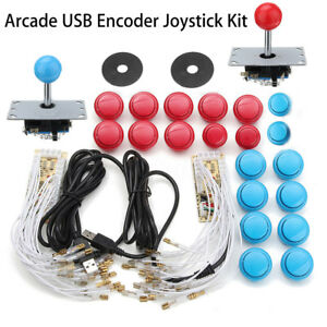Kit 2x Joystick Arcade + 20 botones + 2 Player USB Controlador DIY Encoder Juego