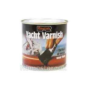Captivating Image Is Loading RUSTINS YACHT VARNISH GLOSS WEATHER PROOF WOOD FINISH