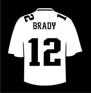 tom brady jersey sticker