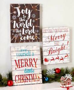 Christmas Signs.Details About New Lighted Pallet Christmas Signs Big 12 X 15 Merry Christmas