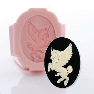 Details about Unicorn Cameo Silicone Mold - Jewelry Resin Polymer Clay  Epoxy - Food Safe (547)