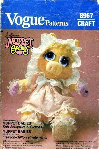 OOP Vogue Jim Henson/'s  Muppet Doll and Doll Clothes Sewing Pattern You Pick