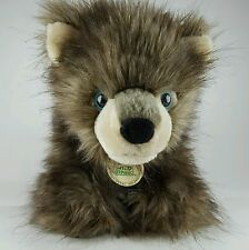 Wild Republic Wolf Cub Baby Plush Stuffed Animal Toy Gray Fur Blue Eyes Timber