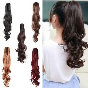 Strongbeauty Claw Clip Ponytail Hairpiece Short Curly Hair Extension Synthetic