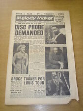 MELODY MAKER 1959 FEBRUARY 28 LOUIS ARMSTRONG JANE MORGAN BRUCE TURNER   +