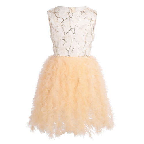 Flower Girls Kids Princess Dress Party Formal Wedding Bridesmaid Tutu Ball Gown
