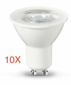 Pack of 10-3000K Warm white 500 LUMENS UKEW GU10 7W LED Bulb