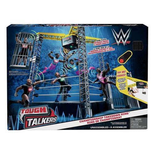 WWE Tough Talkers Championship Takedown Ring Playset Kids Toy Gift Present Game