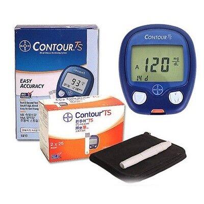 Bayer Contour TS Blood Glucose Test Machine Kit + 100 ...
