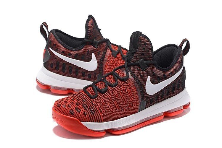 Nike zoom kd 9 università rosso - nero e duro lavoro flyknit sz 11 843392-610