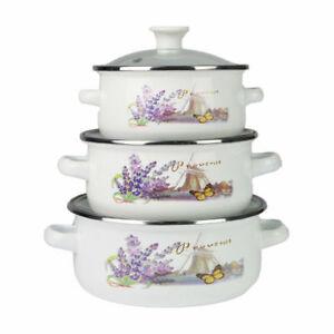 6-Pcs-Marmites-Emaille-Cuisine-Soupe-Set-Casseroles-Ragout-Poele-Blanc-amp-Lavande