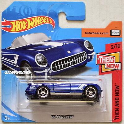 Modellbau RüCksichtsvoll Hot Wheels 2018 Dann Und Jetzt '55 Corvette #3/10 Blaue Short Karte Verschiedene Stile Autos, Lkw & Busse