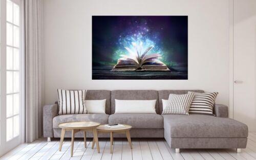 Magisches Buch Zauber Leinwand Bild Wandbild Kunstdruck L1025