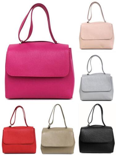 italienische Handtasche Schultertasche Henkeltasche Damentasche echt Leder NEU