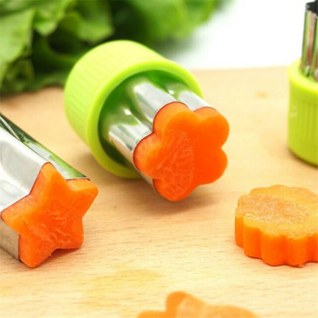 9/12Pcs Set Stainless Steel Vegetable Cutter Mold Fruit Cookie Slicer Mould New