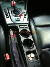 FITS BMW E46 M3 AUTOMATIC SMG GEAR HANDBRAKE GAITER BLACK SUEDE M STITCH