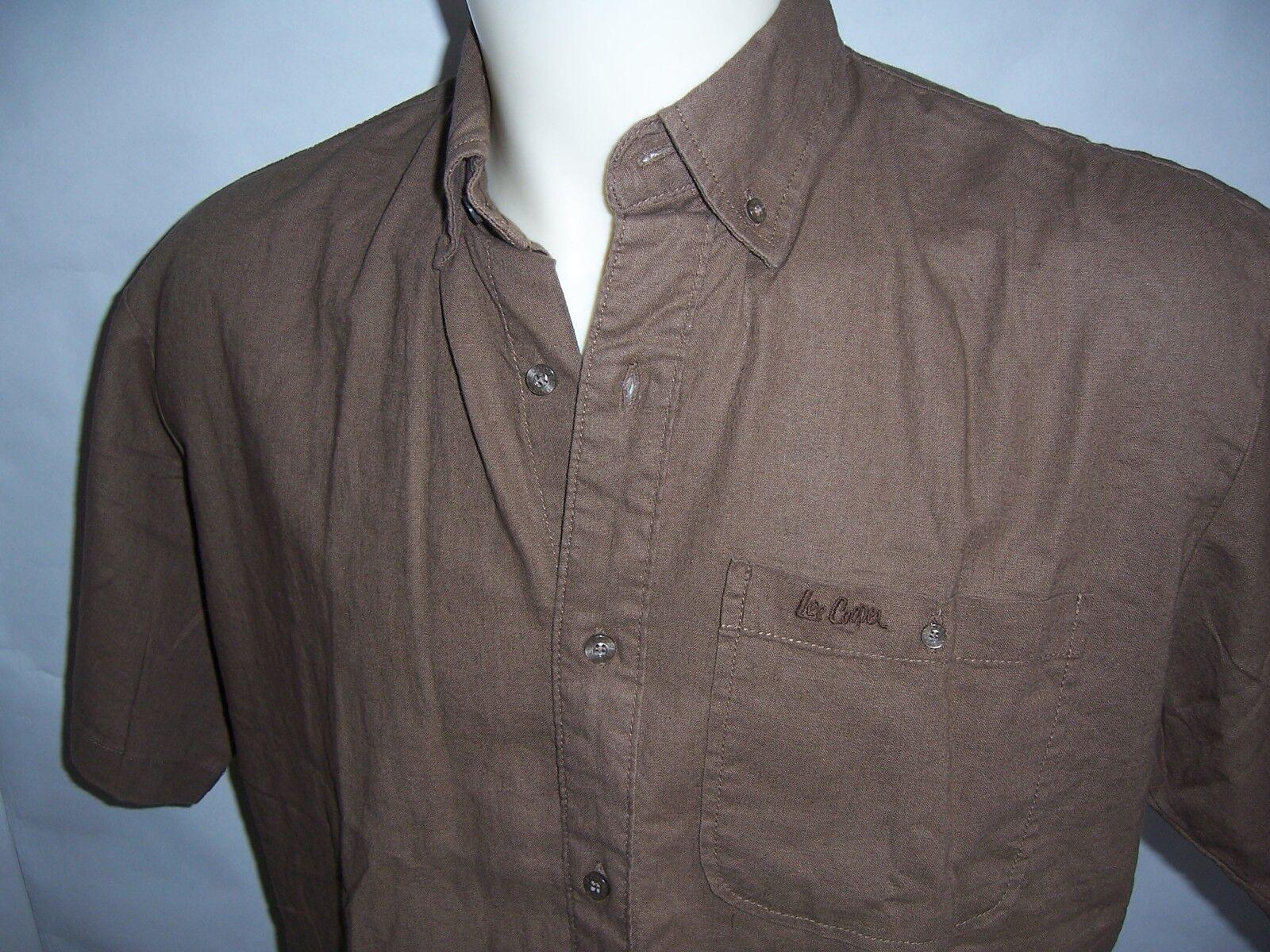 CHEMISE manches courtes adulte LEE COOPER neuve coloris taille XL coloris neuve marron coffee cce34d