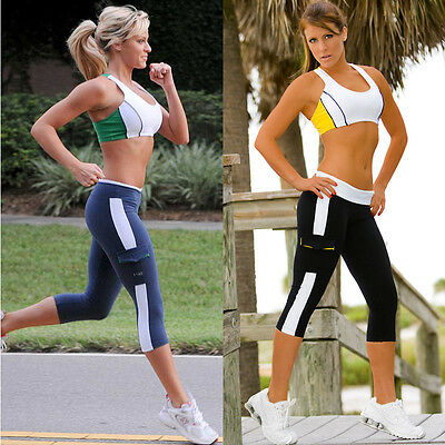 New Summer Women Tights Capri Running yoga Sport Pants Shorts Cropped Fitness