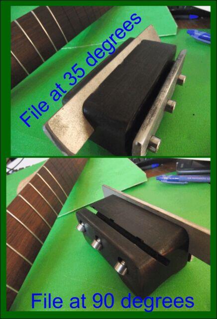 Fret End Bevel File. Dual Angle 90 & 35 degrees Diamond File Fret Beveling TF014
