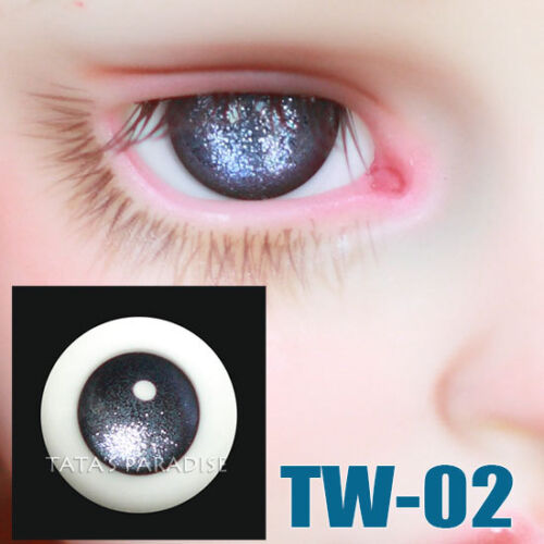 TATA glass eyes TW-02 14mm//16mm for BJD SD MSD 1//3 1//4 size doll use silver