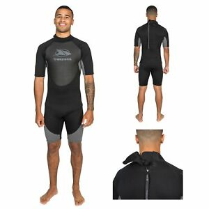 Trespass-Scuba-Mens-Short-Sleeved-Black-Neoprene-Wetsuit-for-Diving-Surfing