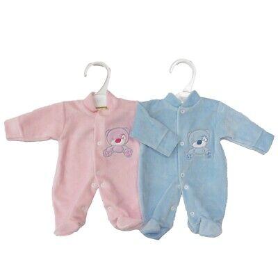 Prématuré Preemie Prem Vêtements Bébé Sleepsuit Babygrow Garçons Filles Rose//Bleu Ours