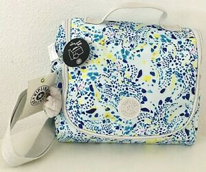 Kipling-Kichirou-Lunch-Bag-Box-Delicate-Vines-Nylon-School-Crossbody-Bag-NWT
