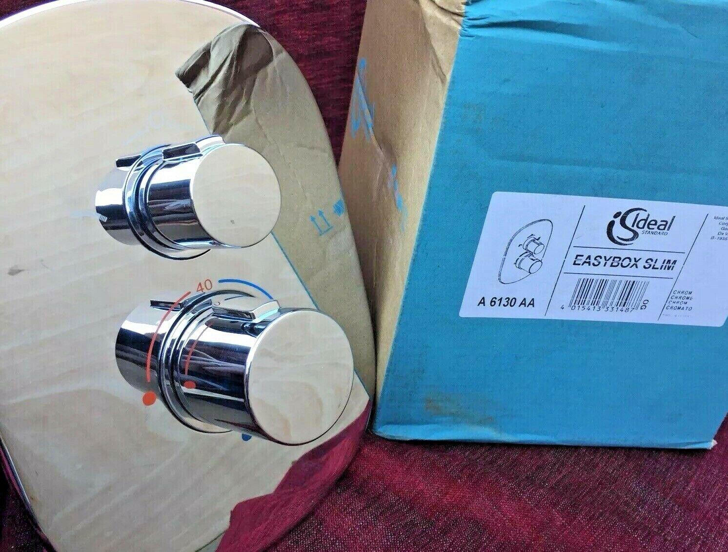 Standard idéal Easybox Slim Caché Douche Thermostatique Mélangeur & inverseur A6130