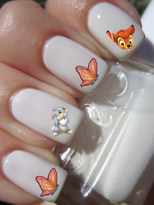 Disney-Bambi-Panpan-Papillon-ongles-manucure-nail-art-water-decal-sticker