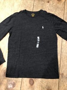 Long Shirt Ralph Polo Lauren Crewneck Mens Black Size T Small Sleeve qFCI7wC