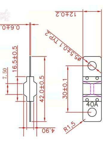 3 X 40AMP MIDI Fuse /& 2 x Fuse Holder Kit Suit Redarc 1225D Projecta IDC25