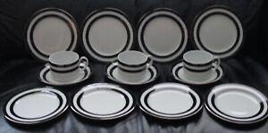 SET-X-14-POLO-RALPH-LAUREN-1995-SPECTATOR-BLACK-PORTUGAL-CUPS-SAUCERS-PLATES
