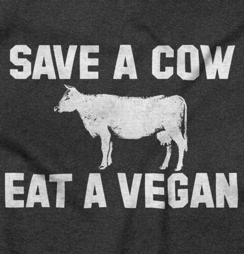 Save A Cow Eat A Vegan Sexual Adult Humor Short Sleeve T-Shirt Tees Tshirts