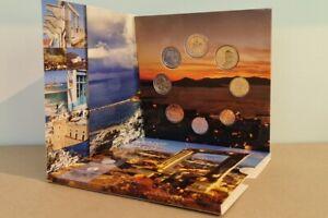Coffret BU Euros Grèce 2021 8 pièces - 1 centimes à 2 Euros