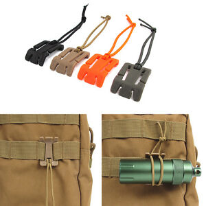 5Pcs Bungee Elastic Buckle Rope Fixed Buckle Cord Roll Clamp Cable Clip Backpack