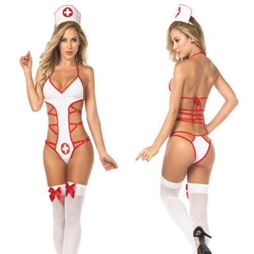 Costume travestimento da infemiera con capello festa vestito carnevale donna