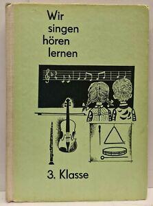 Wir singen, hören, lernen - Lehrbuch für den Musikunterricht - 3. Klasse - 1966