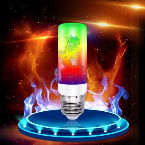 4Modes E27 B22  LED Flame Effect Fire Light Bulb Flickering Lamp Christmas Decor