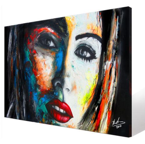 Wandbilder Frau Porträt Abstrakt Deko Bild auf Leinwand Modern XXL 347A