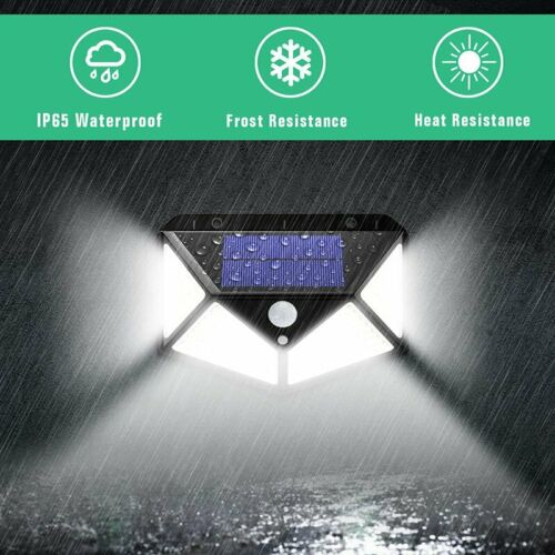 Powered LED Wall Motion Sensor Security 120//118 Garden Light Outdoor Lamp Solar