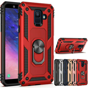 For-Samsung-Galaxy-A6-J4-J6-Plus-Hybrid-Shockproof-Armor-Ring-Holder-Stand-Case