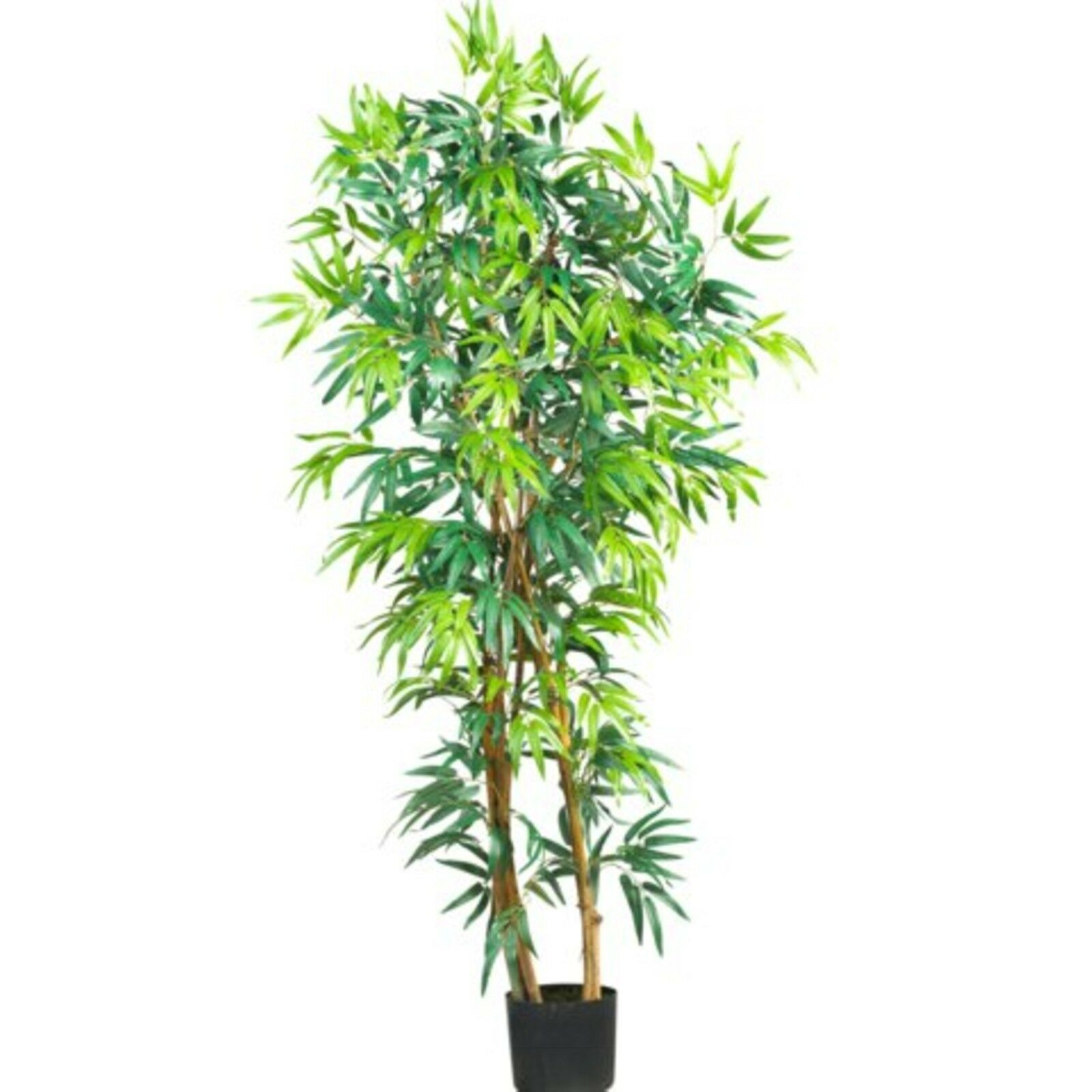 Decorative Natural Looking Artificial 5' Fancy Style Bamboo Silk Tree Plants
