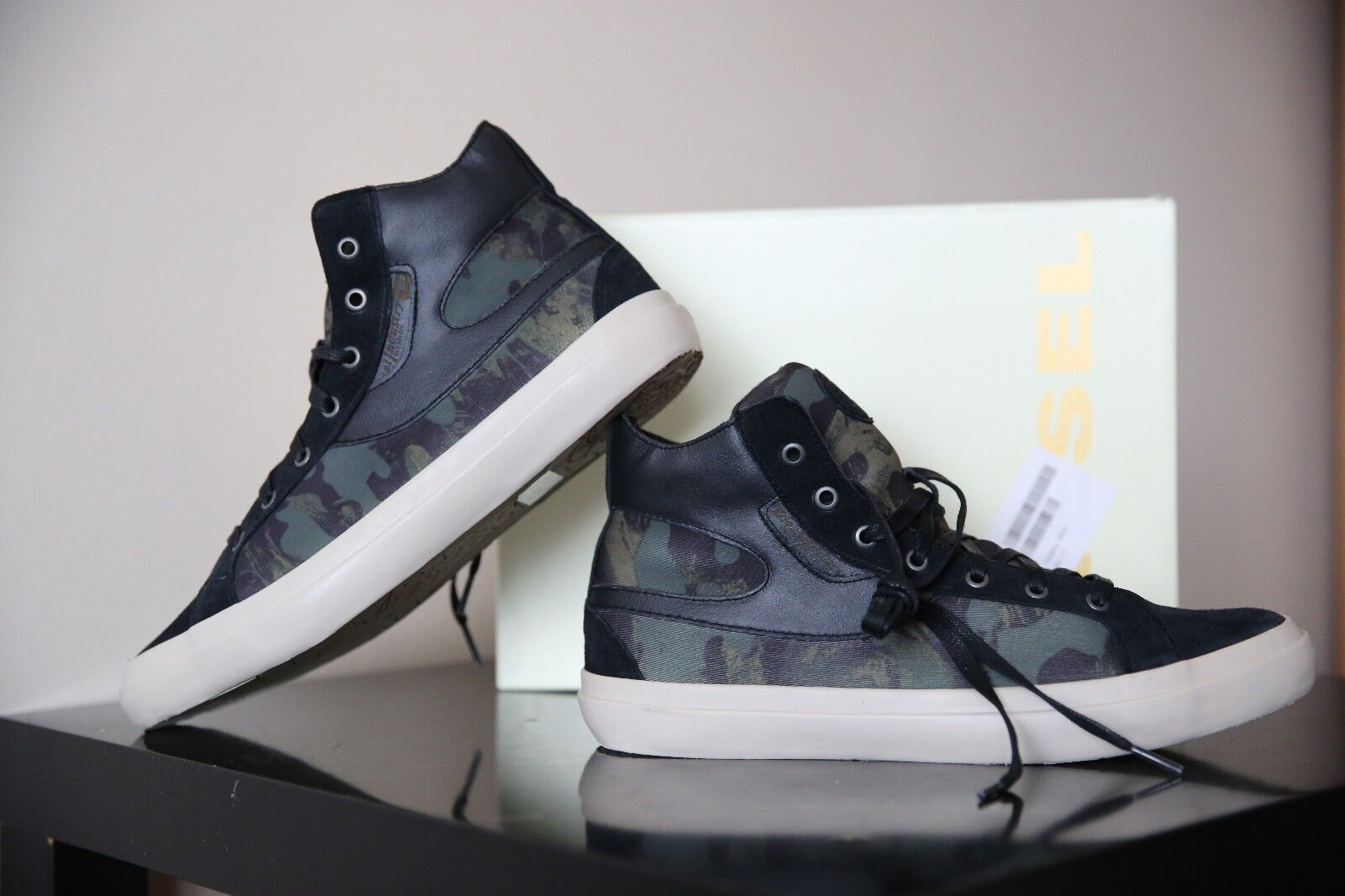 Diesel Kwaartzz Men Camouflage  Black shoes Size UK 10 EUR 44