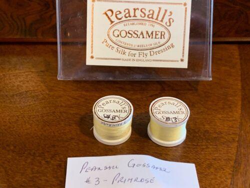#3 Primrose Yellow Pearsall/'s Gossamer Silk Threads Fly Fishing