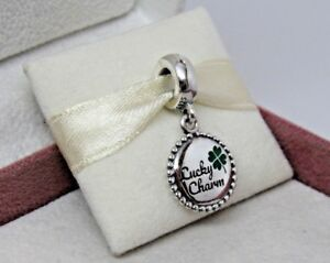 864bab956 Pandora w/Box Lucky Charm 4 Leaf Clover Charm ENG791169_81 US ...