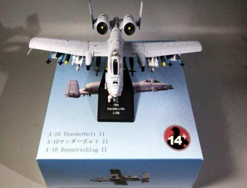 USA Fairchild A-10 Thunderbolt 1//100 DIECAST Finished aircraft plane model
