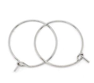 200-Wine-Glass-Charm-Rings-Earring-Hoops-25x20mm