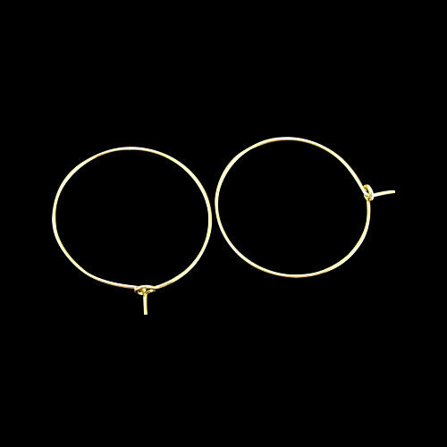20Pcs 25x0.8mm Golden Brass Wine Charms Rings Hoop Earrings for Jewelry Making